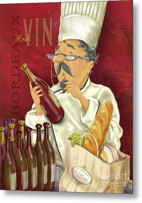Wine Chef Iv Metal Print by Shari Warren