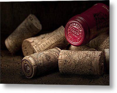 Wine Corks Still Life Iv Metal Print by Tom Mc Nemar