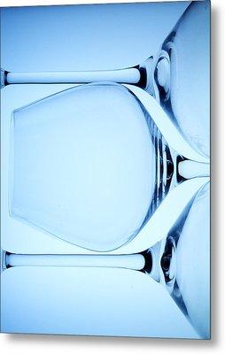 Wine Glasses 4 Metal Print by Rebecca Cozart
