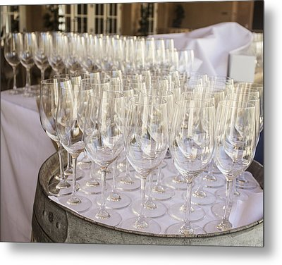 Wine Glasses Metal Print by Dee  Savage