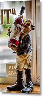 Wine Holder 1 Metal Print by John Hoey