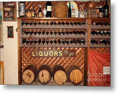 Wine Rack In The Cellar Room At The Swiss Hotel In Sonoma California 5d24451 Metal Print by Wingsdomain Art and Photography