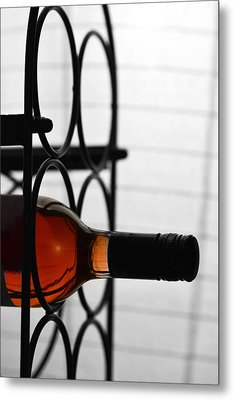 Wine Rack Metal Print by Toppart Sweden