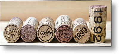 Wine Vintages Metal Print by Frank Tschakert