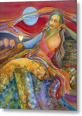 Wine Woman And Song Metal Print by Jen Norton