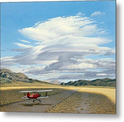 Winged Dreams -travelaire Biplane Metal Print by Paul Krapf