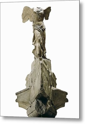 Wingel Victory Of Samothrace Or Nike Metal Print by Everett