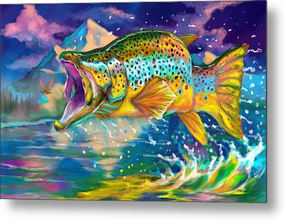 Wings And Fins  Metal Print by Yusniel Santos