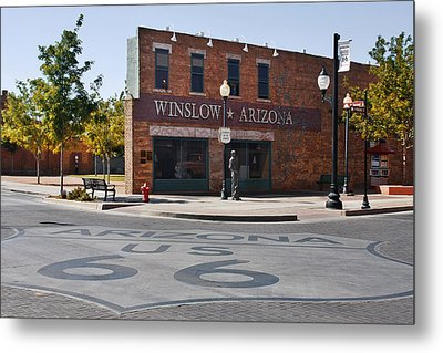 Winslow Arizona - Such A Fine Sight To See Metal Print by Christine Till