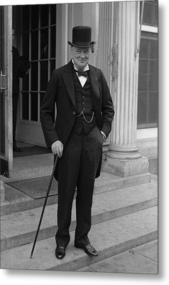 Winston Churchill Metal Print by War Is Hell Store