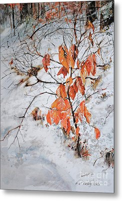 Winter Ash Metal Print by P Anthony Visco