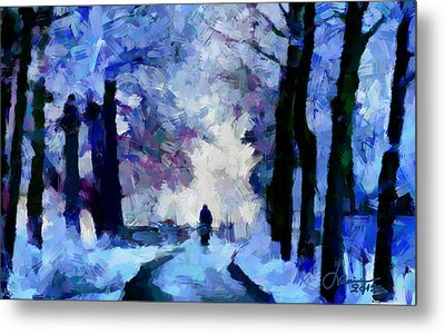 Winter Blues Tnm Metal Print by Vincent DiNovici