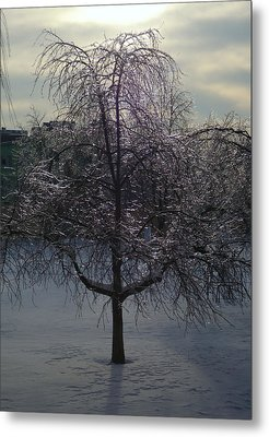 Winter Candelabrum Metal Print by Henryk Gorecki