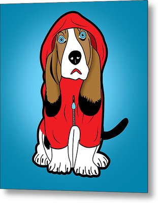 Winter Dog  Metal Print by Mark Ashkenazi