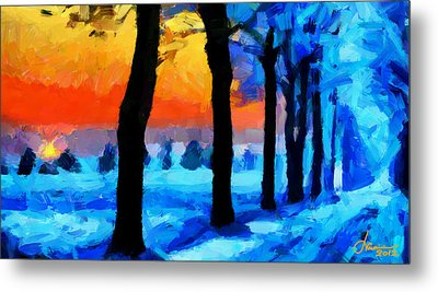 Winter Escape Tnm Metal Print by Vincent DiNovici