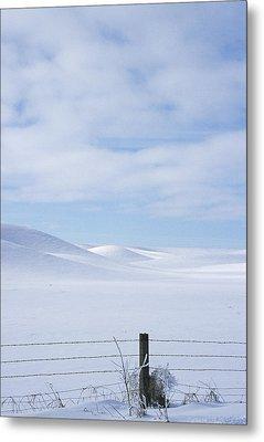 Winter Fenceline Metal Print by Latah Trail Foundation