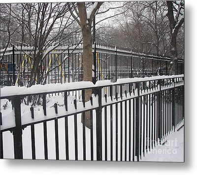 Winter Fences Metal Print by James Dolan