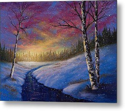 Winter Flurries Metal Print by C Steele
