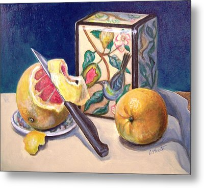 Winter Fruit Metal Print by Laura Aceto