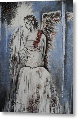 Winter Ice Angel Metal Print by Carla Carson