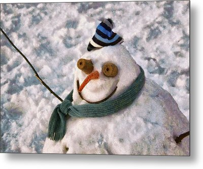 Winter - I'm Ready For My Closeup Metal Print by Mike Savad