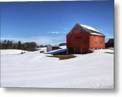 Winter In Dover Metal Print by Eric Gendron