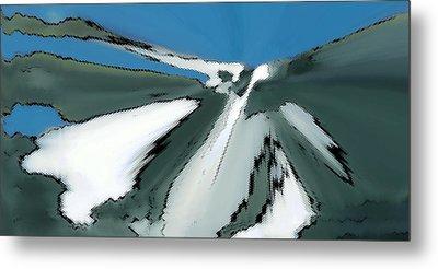 Winter In The Mountains Metal Print by Ben and Raisa Gertsberg