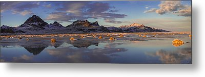 Winter In The Salt Flats Metal Print by Chad Dutson