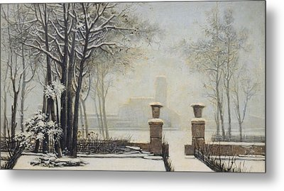 Winter Landscape Metal Print by Alessandro Guardassoni