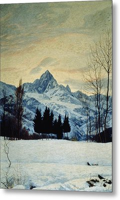 Winter Landscape Metal Print by Matteo Olivero