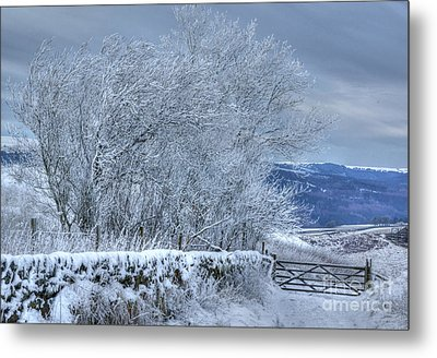 Winter Landscape Near Buxton Metal Print by David Birchall
