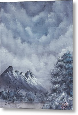 Winter Landscape Metal Print by Troy Wilfong