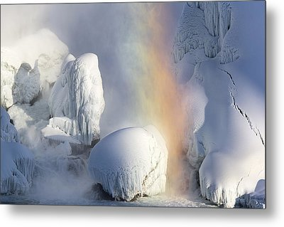 Winter Magic In Niagara Metal Print by Magda  Bognar