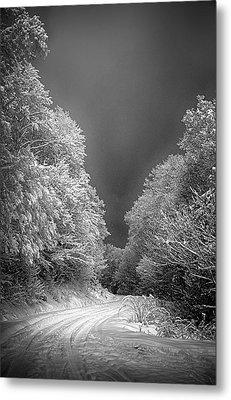 Winter Road Metal Print by John Haldane