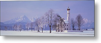 Winter St Coloman Church Schwangau Metal Print by Panoramic Images