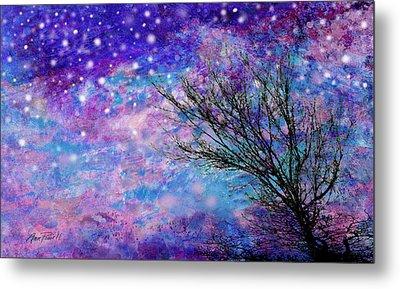 Winter Starry Night Metal Print by Ann Powell