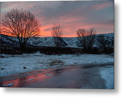 Winter Sunrise Metal Print by Chad Dutson