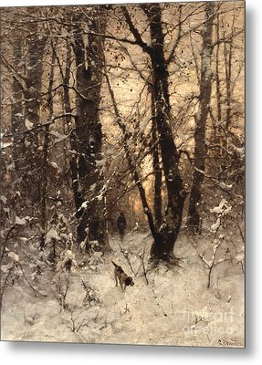 Winter Twilight Metal Print by Ludwig Munthe