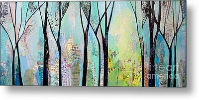 Winter Wanderings II Metal Print by Shadia Zayed