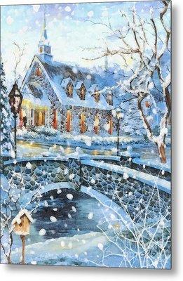 Winter Wonderland Metal Print by Mo T