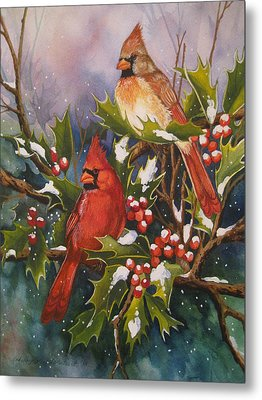 Winter Wonders Metal Print by Cheryl Borchert