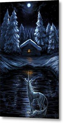 Winter's Chill Metal Print by Katerina Romanova