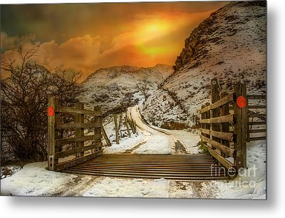 Winters Gate Metal Print by Adrian Evans