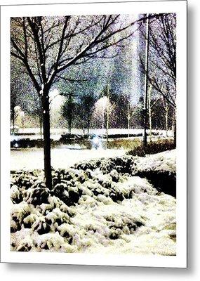 Winters Light Metal Print by Andrew Allsopp