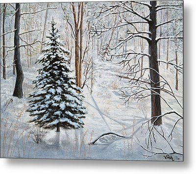 Winter's Peace Metal Print by Vicky Path