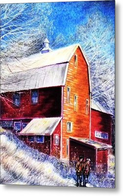 Winterscape Metal Print by Raffi  Jacobian