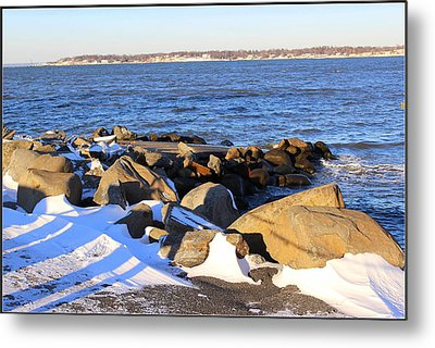 Wintry Day At The Bay Metal Print by Dora Sofia Caputo Photographic Art and Design