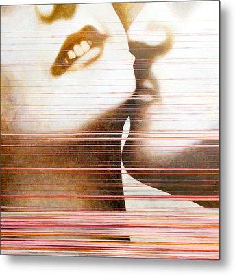Wipe Metal Print by Sandra Cohen