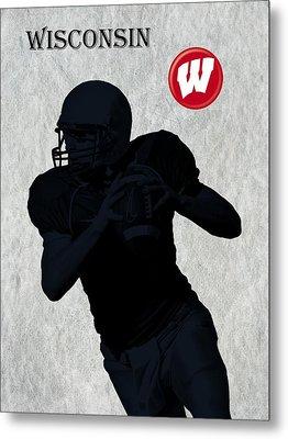 Wisconsin Football Metal Print by David Dehner