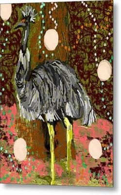 Wise Old Emu Metal Print by Jaahda Jinnah